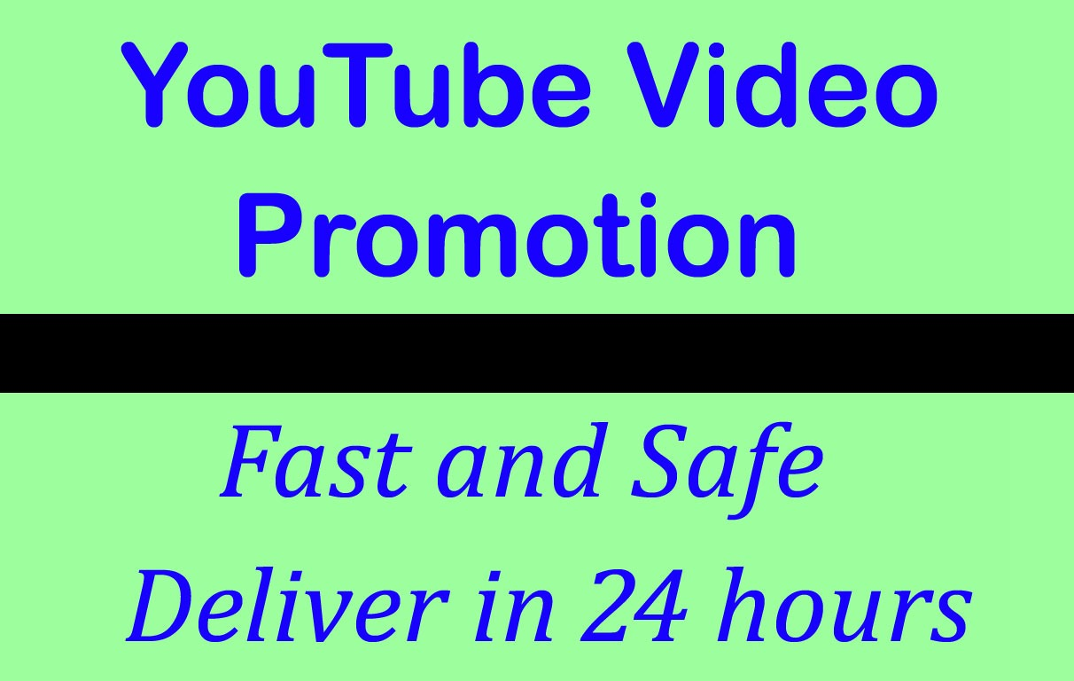 High quality YouTube Video Promotion and Marketing in 12 Hours