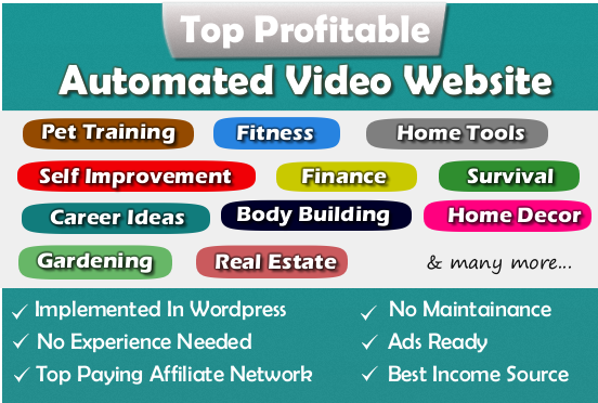 Fully Automated Website - Huge Profitable Niche - Newbie Friendly!