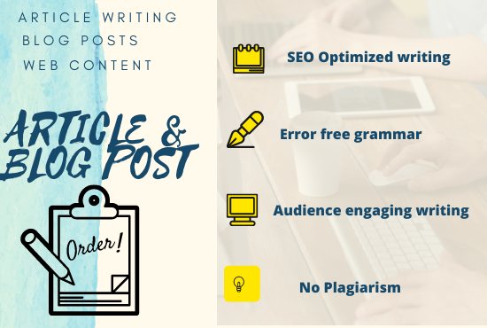 article writing for your blog based on SEO optimization