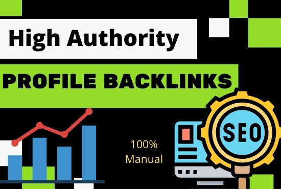 80 High Authority SEO Profile Backlinks white hat manual link building service for google top ranki