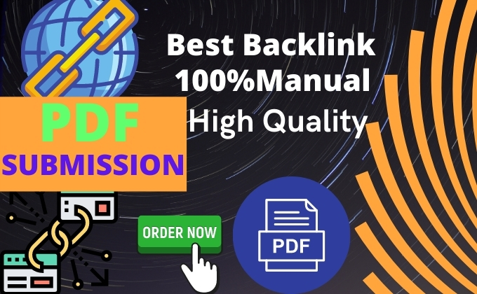 I will do PDF Submission to 25 High DA PA DOC sharing site for GOOGLE rank