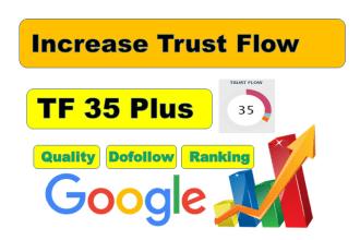 I will manually create 20 TF 35 plus Quality Dofollow Backlinks for seo service.