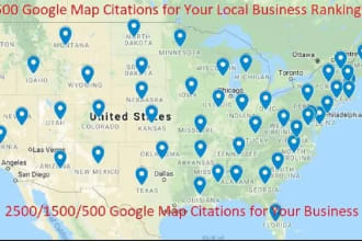 I will manually create 3000 Google Map Point Citation for your business