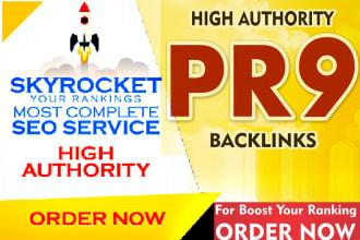 Manually create 80 High PR SEO Authority Backlinks for google top rank