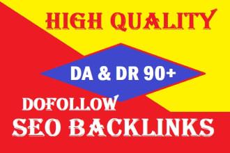 I will provide DA & DR 90+ Dofollow Seo backlinks Boost your website top rank