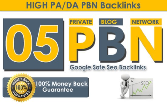 5 High DA 40+ homepage high quality pbn backlinks