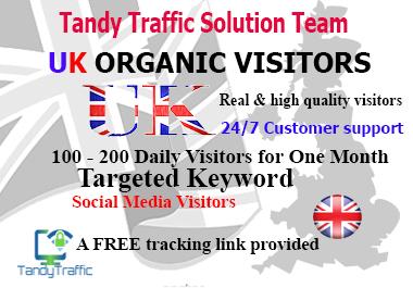 UK Web Traffic Real UK Visitors Organic Traffic Targeted Keyword