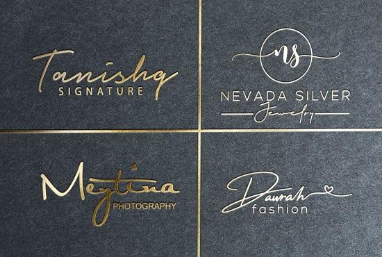I will make signature logo for jewelry boutique fashion