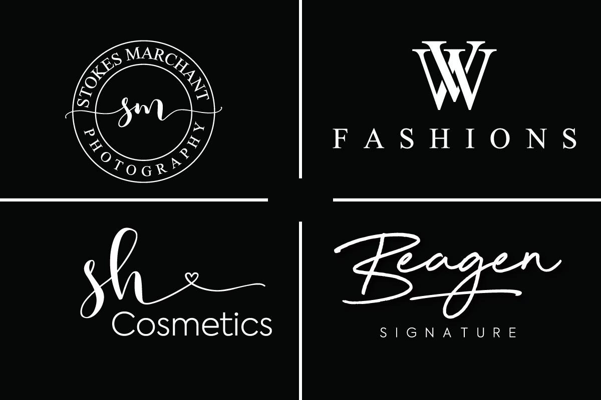 I Will Create Minimal Signature Fashion Boutique Logo Design
