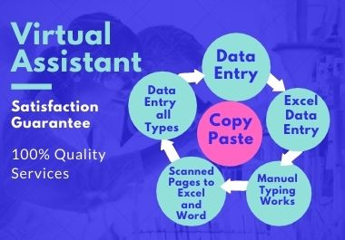 I will be your virtual assistant and do excel spreadsheet data entry or excel and others data entry