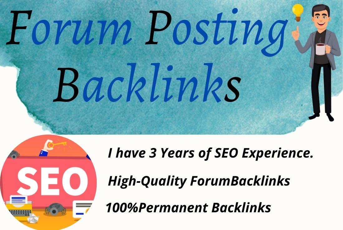 I will make manual 50 HQ forum posting backlinks