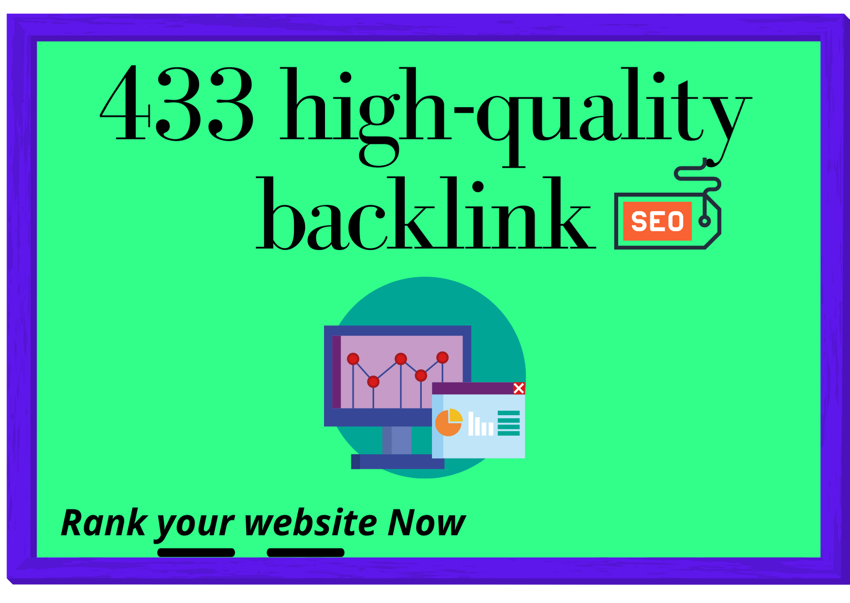 I will do 430+ High-quality backlink for rank your website