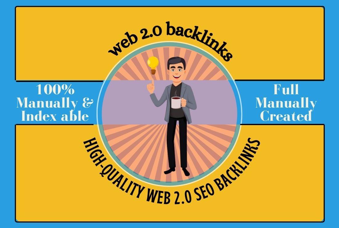 I will create Manually 50 High Authority web 2 0 backlinks
