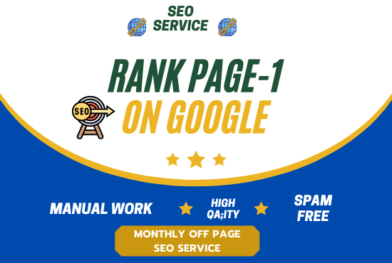 I will do rank your website with monthly off page SEO service pro high quality backlinks