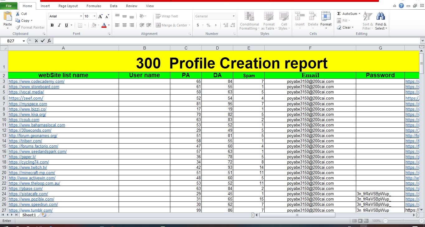 I will do HQ 300+ profile backlinks for your website done Manually