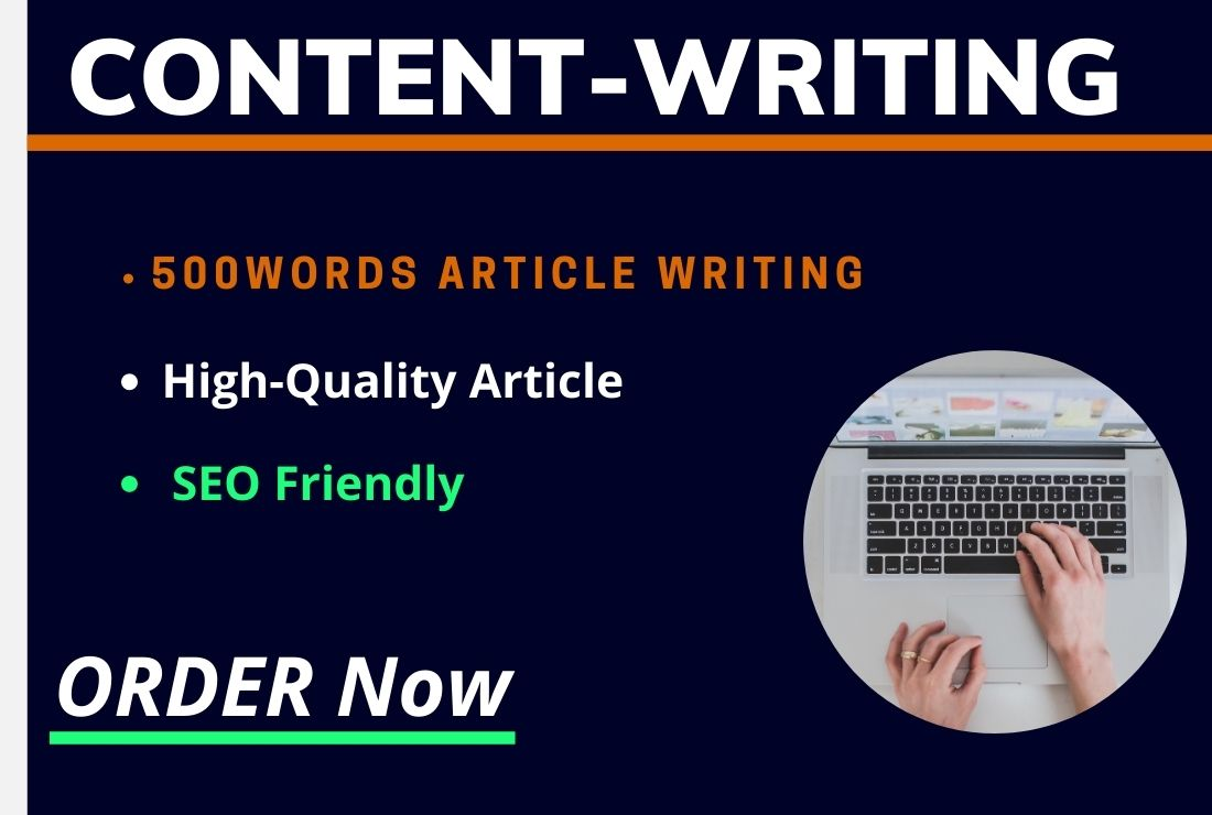 I will manually 500+ word SEO Article Writing,  Blog Writing,  Content Writing For Your Website