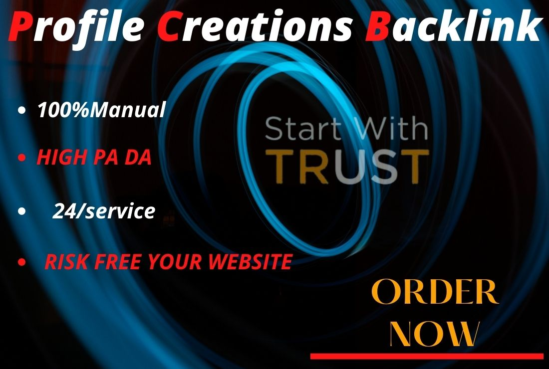 I will manually 150 profile creation and add live backlinks