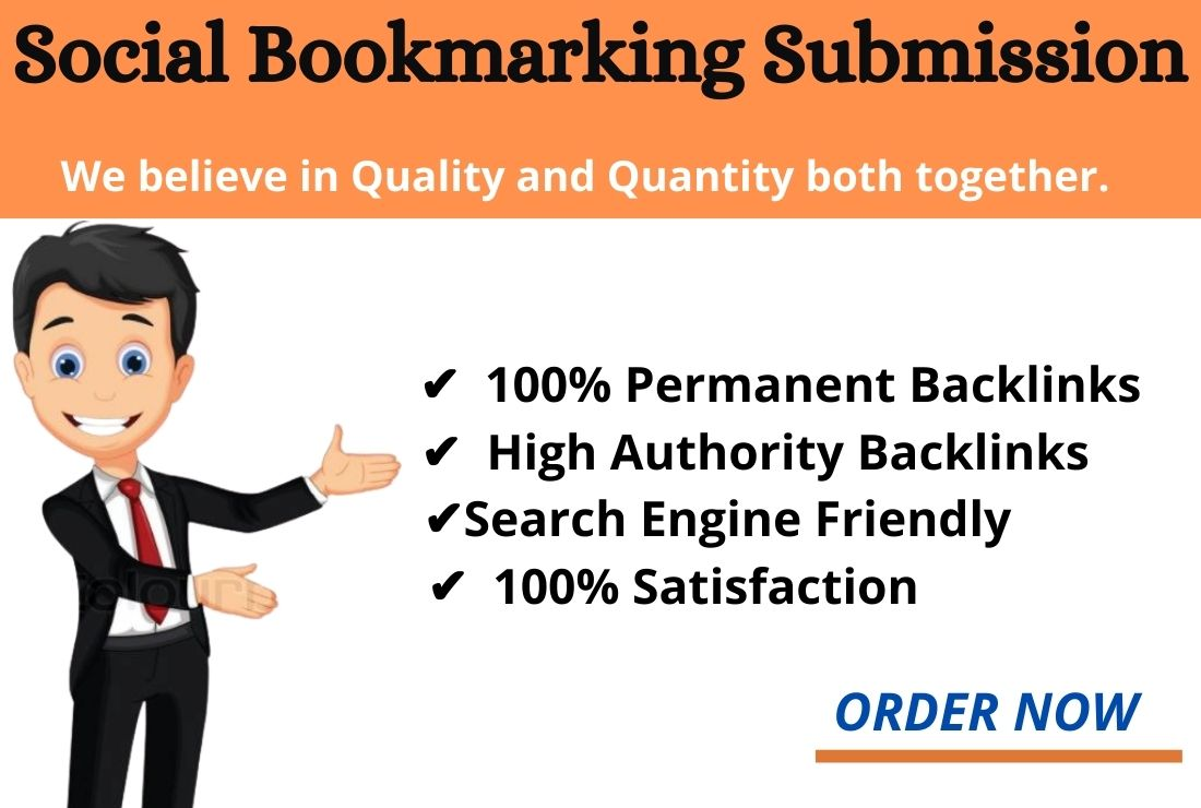 I will 100 Social bookmarking submission with high quality backlinks