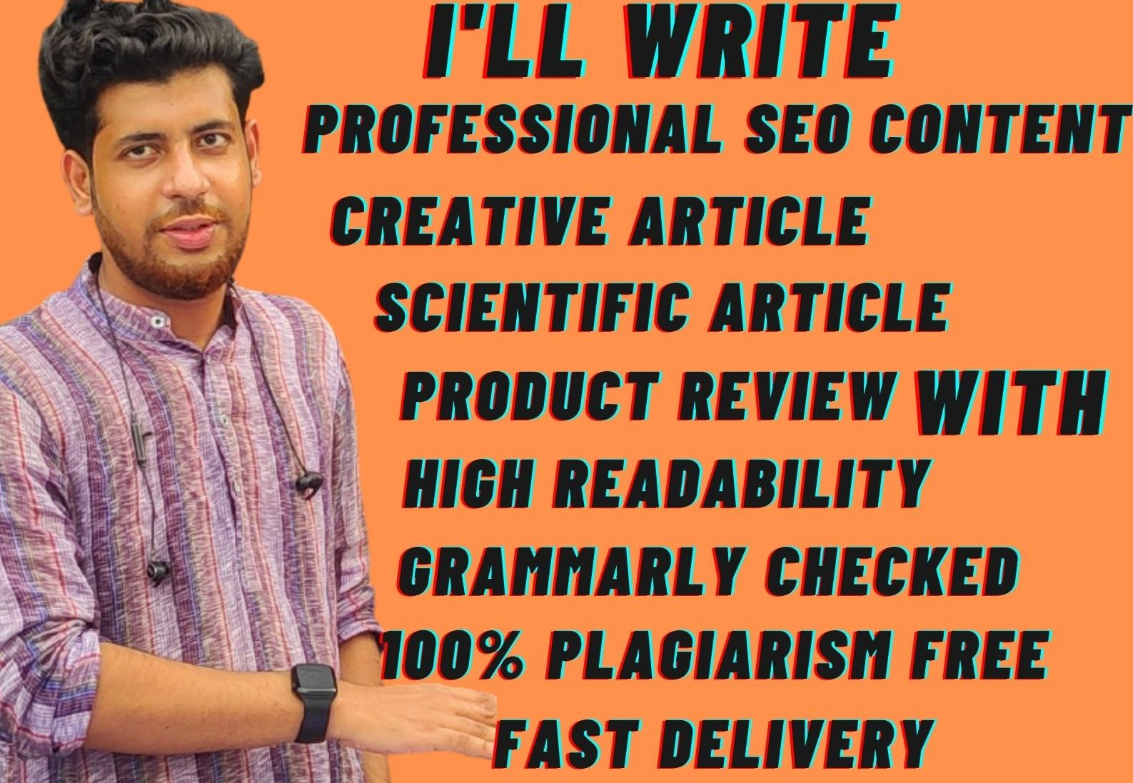 I will write interesting content on any topic