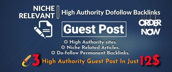 Write and Publish 3 High Da Guest Post,  All Categories Available on DA 95 to 65 sites.