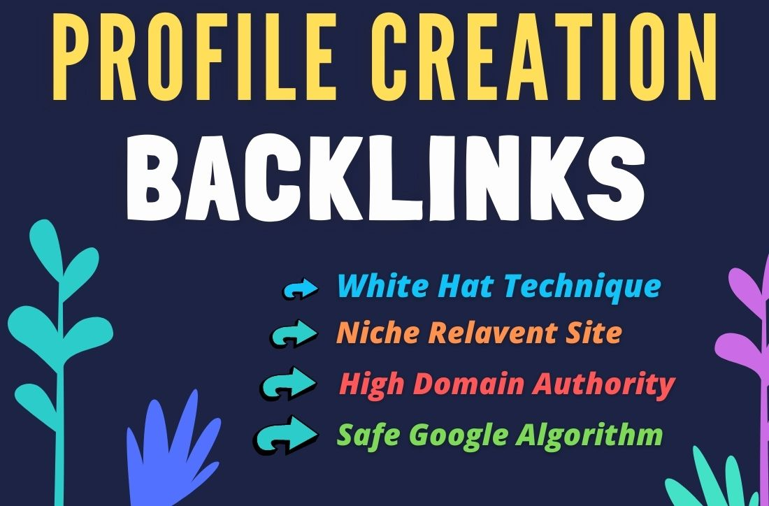 220 Organic and Permanent Profile Backlink on High Authority websites