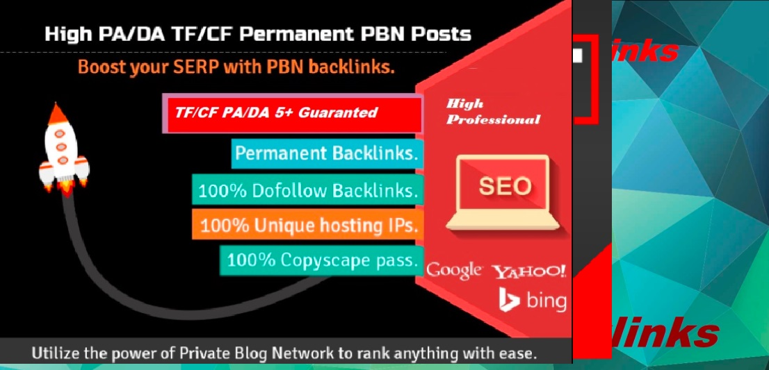 Create 5 High DA 32 to 50+ PBN Backlinks/PBN links for SERP To Boost Your Google Ranking