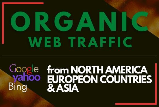 Genuine Country Targeted Organic WEB Traffic