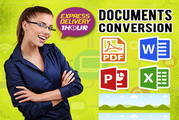 I will convert,  type,  reformat document in word,  excel,  powerpoint,  and PDF