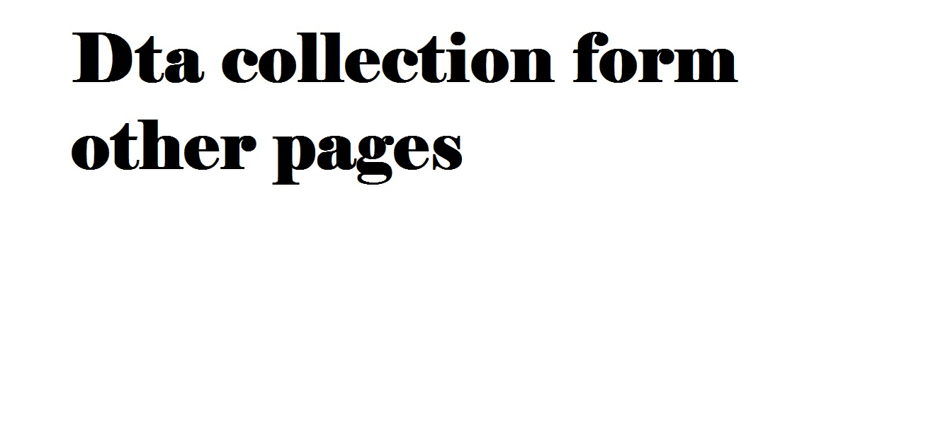 i will also collect data from pages