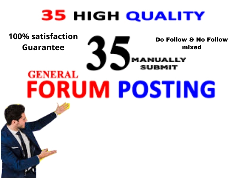 I will create high quality forum backlinks niche and general