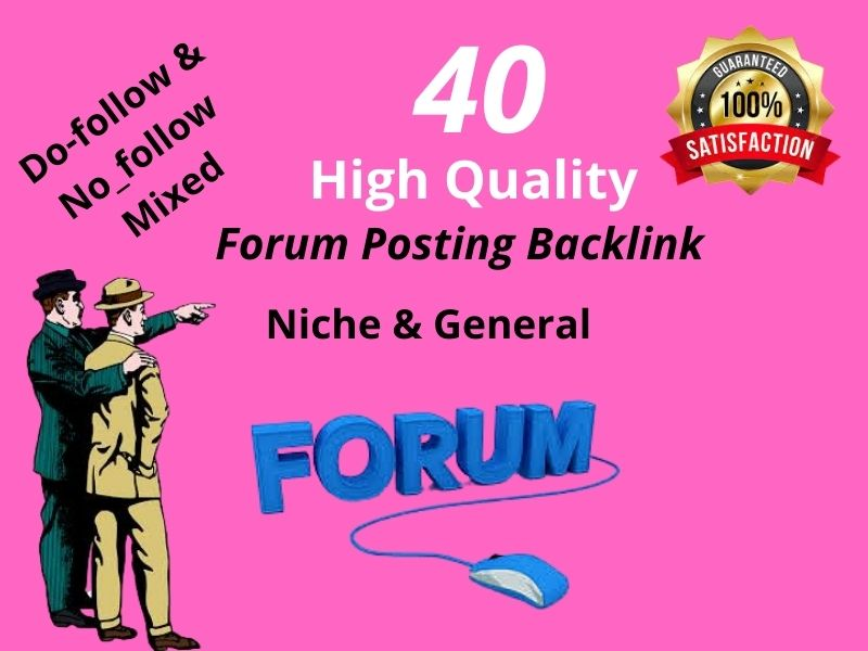 I will created 35 manually HQ Forum Posting Backlinks