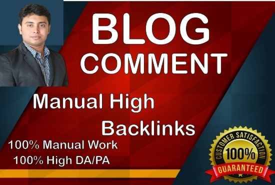 I will make 100 high authority SEO backlinks blog comment