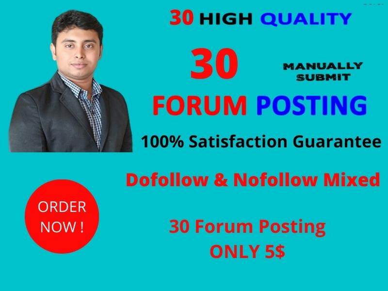 I will do high quality forum posting backlinks