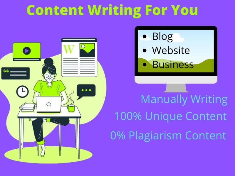 Write any type of unique content of 500 words for your website,  blog,  etc