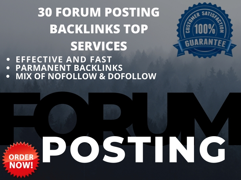 I will create high quality 30 forum posting manually niche and general