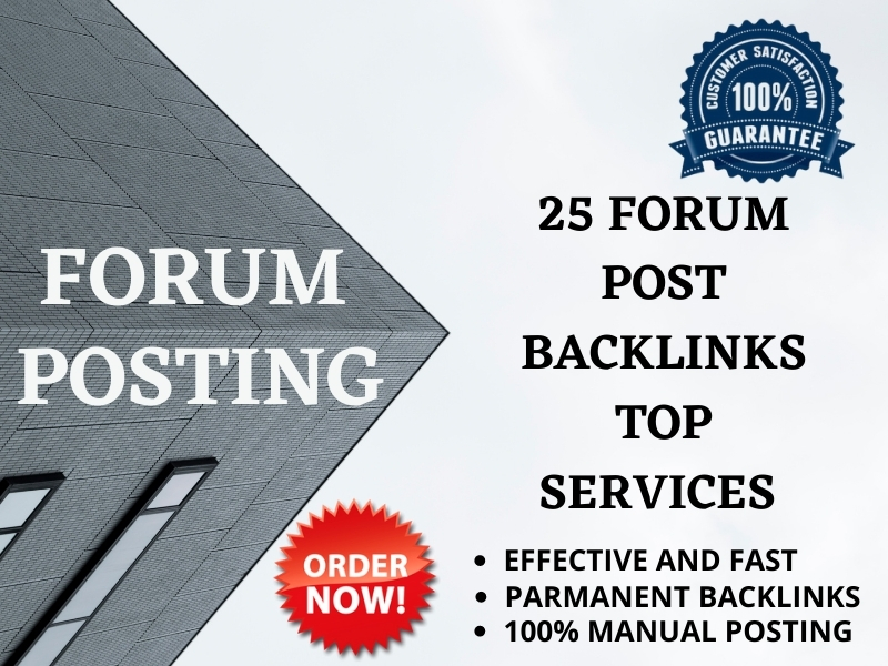 I can create 25 high quality forum posting backlinks