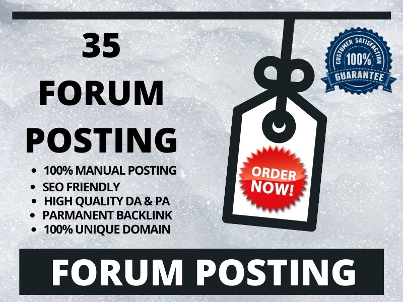 I will create high quality 35 forum posting backlink with high DA & PA sites