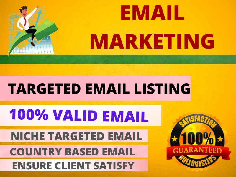 I will make 1000-1200 email list on targeted niche or country for you