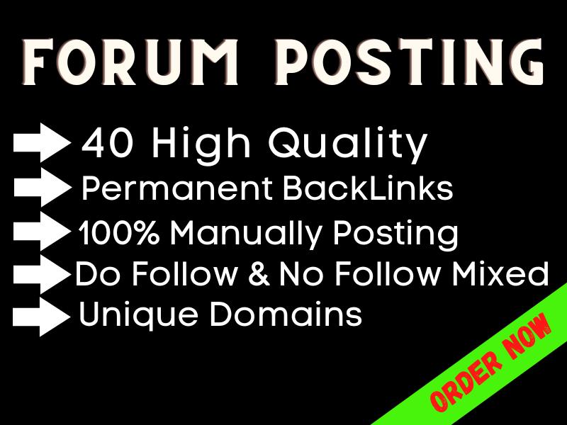 I Will Create 40 High Quality PA DA Forum Posting Manually