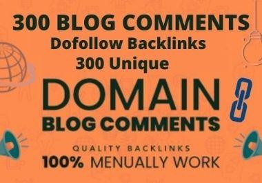 I will build 300 unique domain low obl blog comment dofollow backlinks