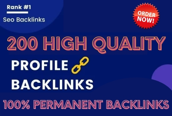I will create 250 high quality DoFollow profile backlinks for google ranking
