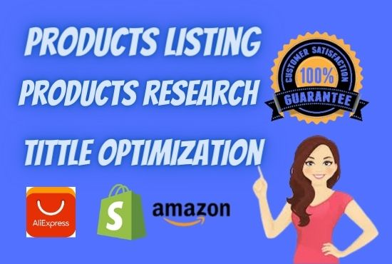 I will do 25 professional shopify product listing data entry