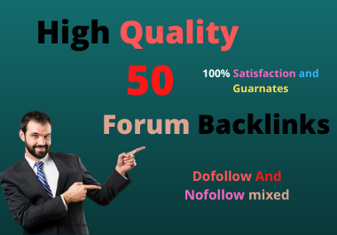 I will do High Quality 50 Forum Backlinks forums according to your site niche