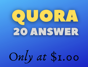 Promote your website by 20 Quora answer with upvotes