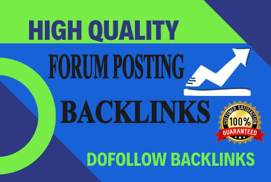 I will create 35 HQ manual forum posting