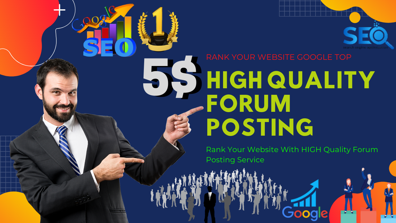 I will create a manual 35 High Quality DA Forum Posting backlinks
