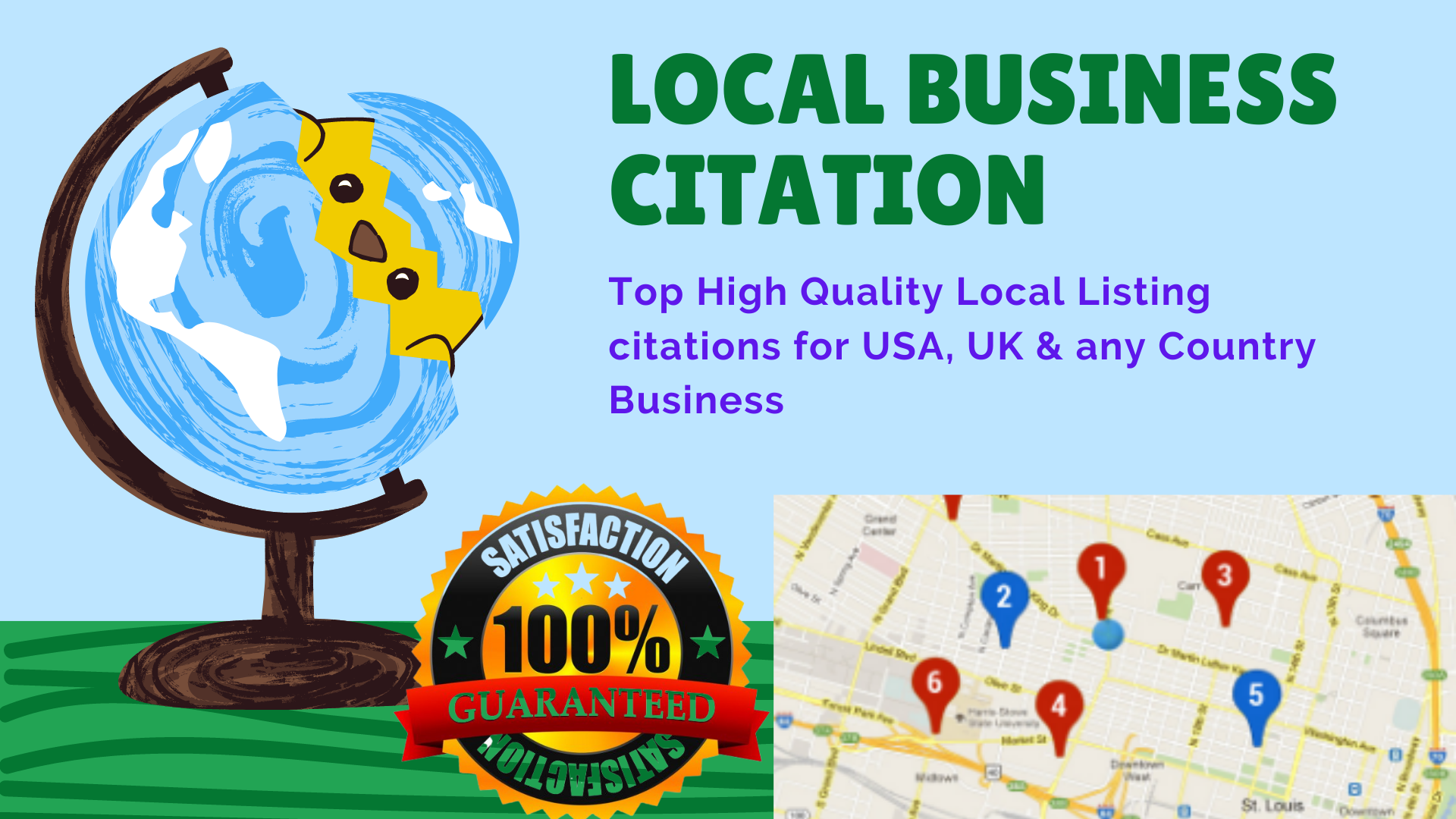 I will Create 35 Top High Quality Local Listing citations for USA,  UK & any Country Business