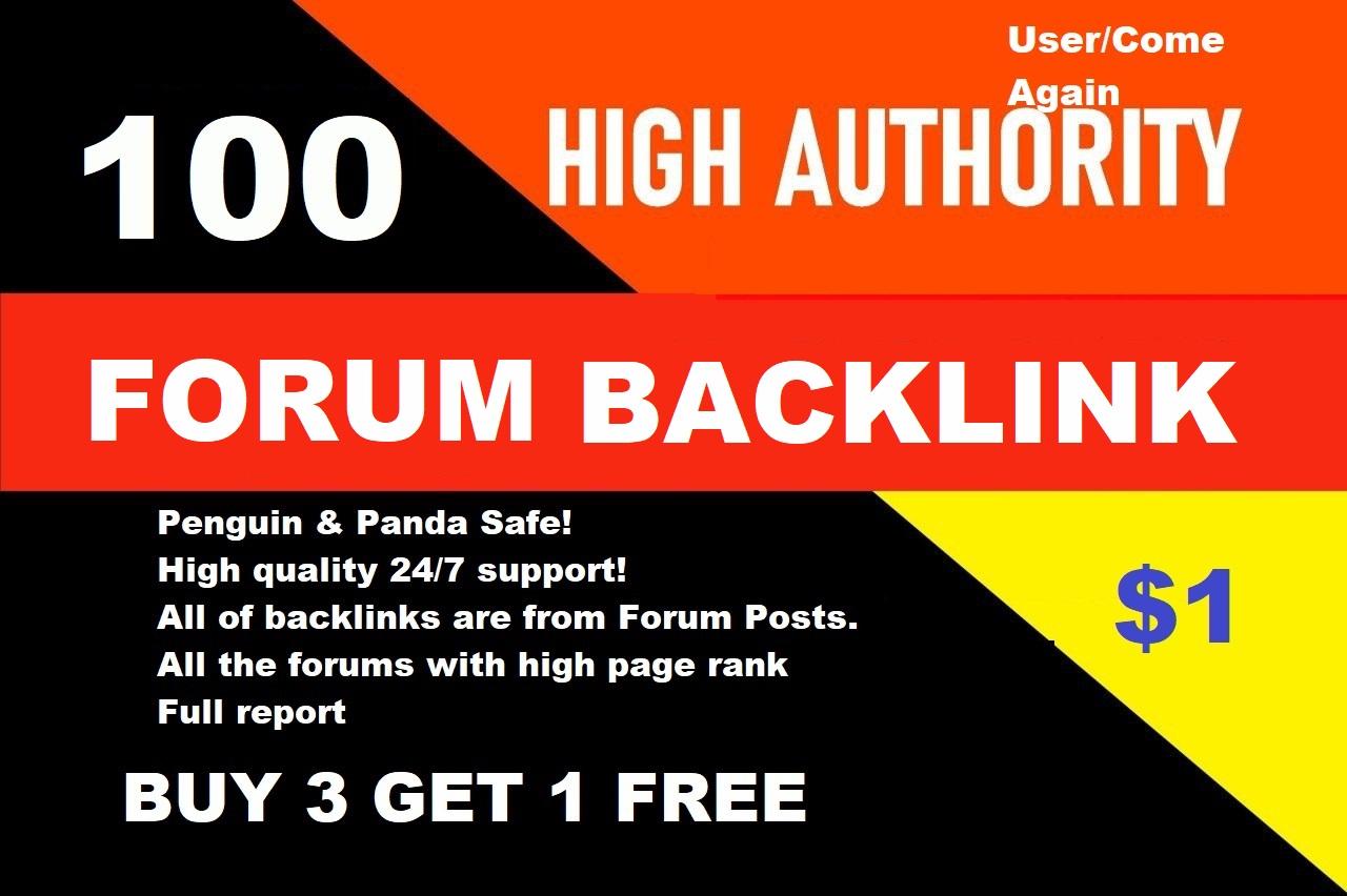 We Create 100 High quality Forum Profile Backlinks