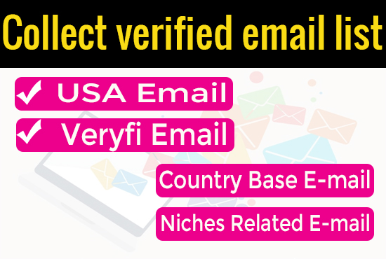 I will collect niche targeted email list and USA 30K Email