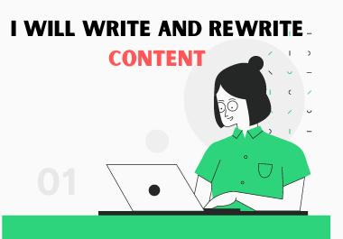 I will write SEO friendly 500 unique words